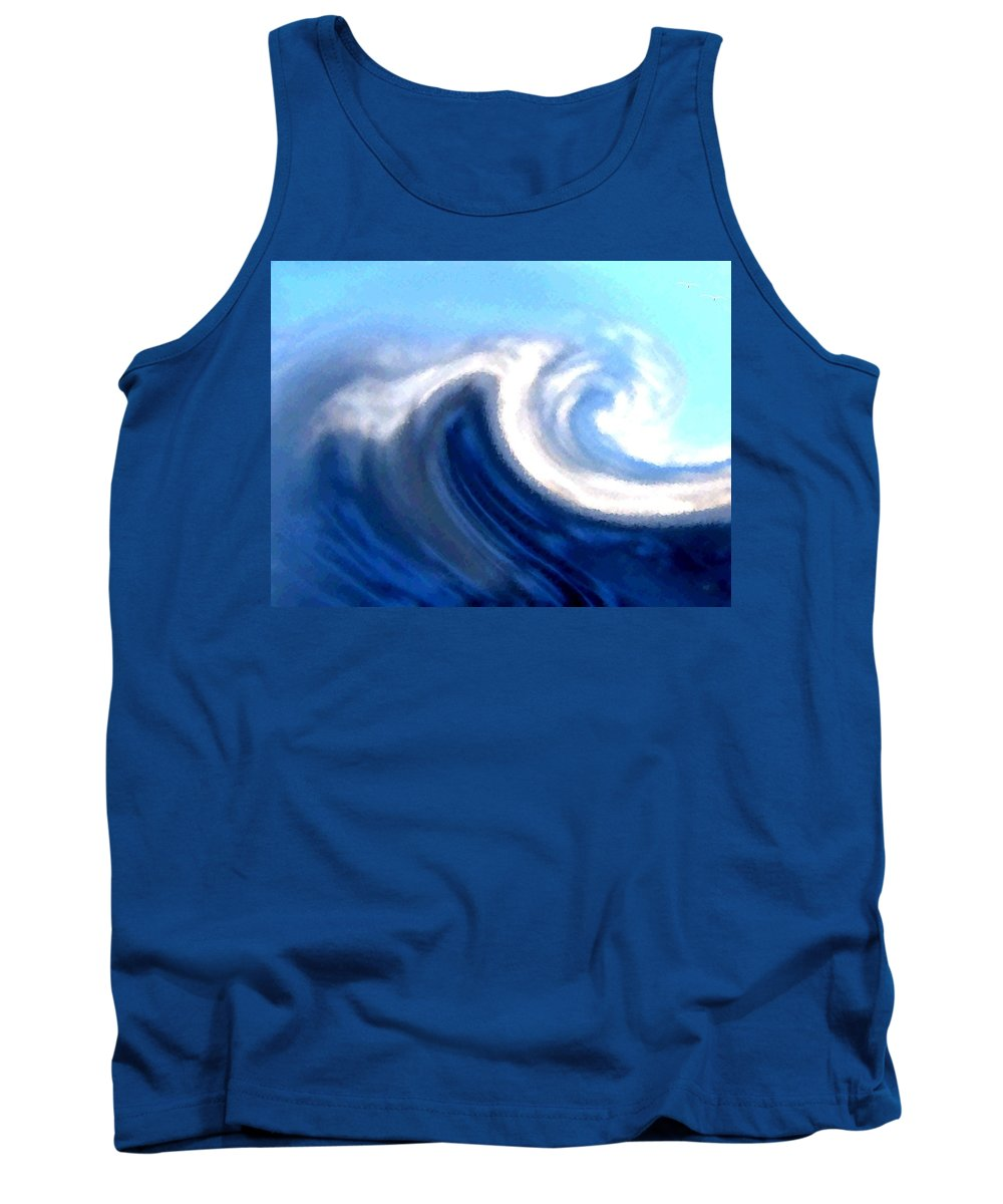 Abstract Tank Top featuring the digital art Raging Sea by Will Borden