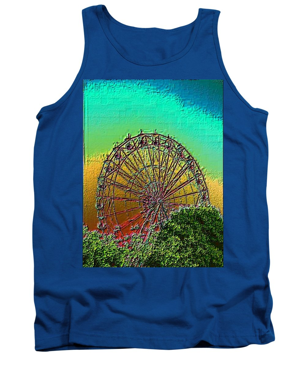 Rainbow Tank Top featuring the photograph Rainbow Ferris Wheel by Tim Allen