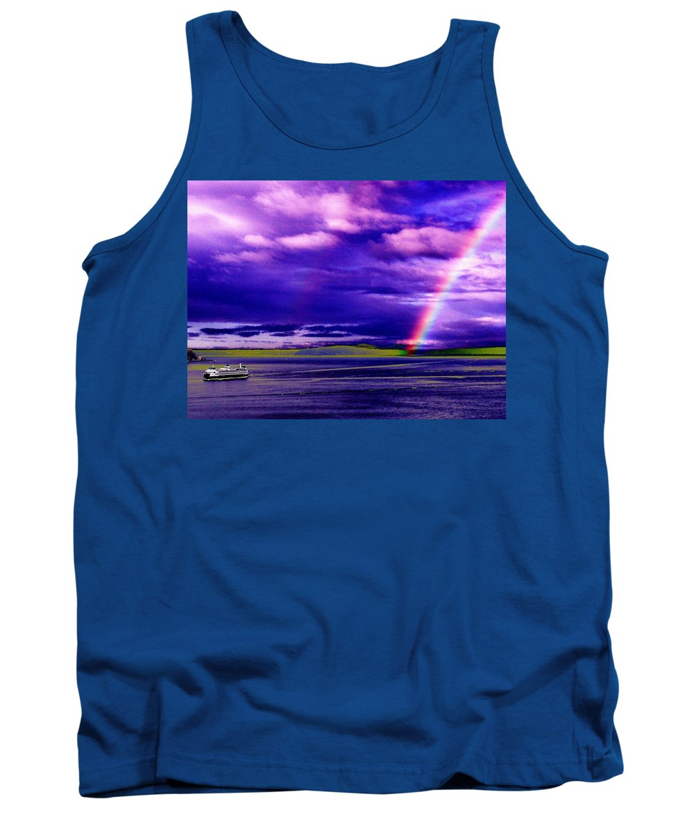 Seattle Tank Top featuring the photograph Rainbow Ferry by Tim Allen