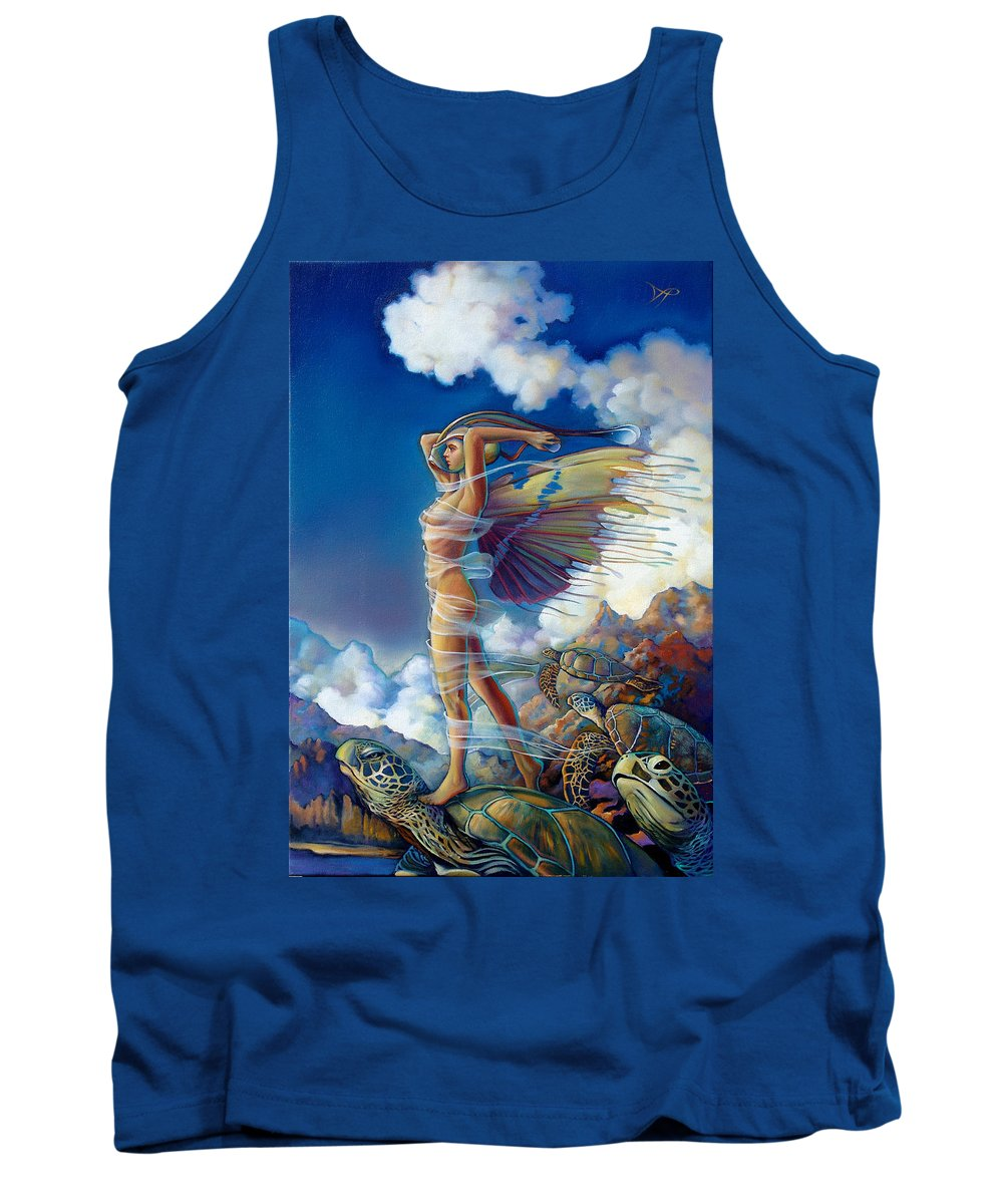 Mermaid Tank Top featuring the painting Rapture And The Ecstasea by Patrick Anthony Pierson