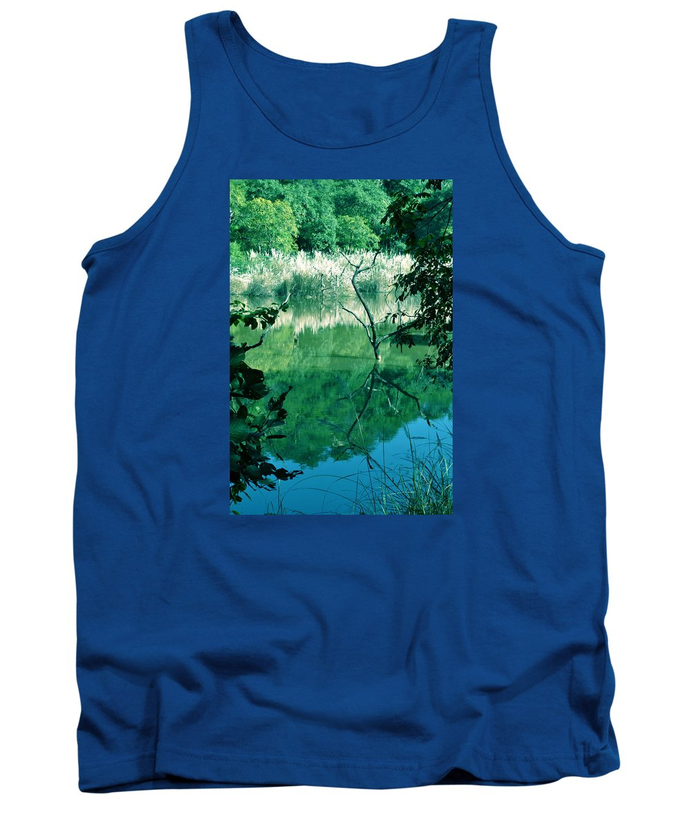 Water Tank Top featuring the photograph Reflected Branches by Bliss Of Art