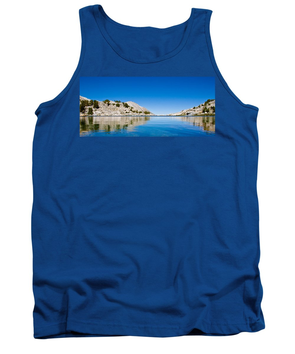 Treasure Lake Tank Top featuring the photograph Reflecting On Treasure by Chris Brannen