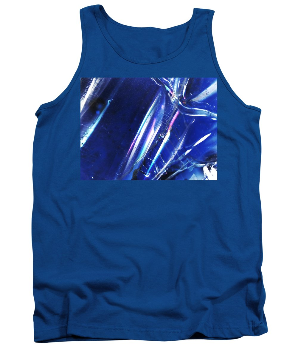 Abstract Tank Top featuring the photograph Reflections In Blue by Michael Hackney