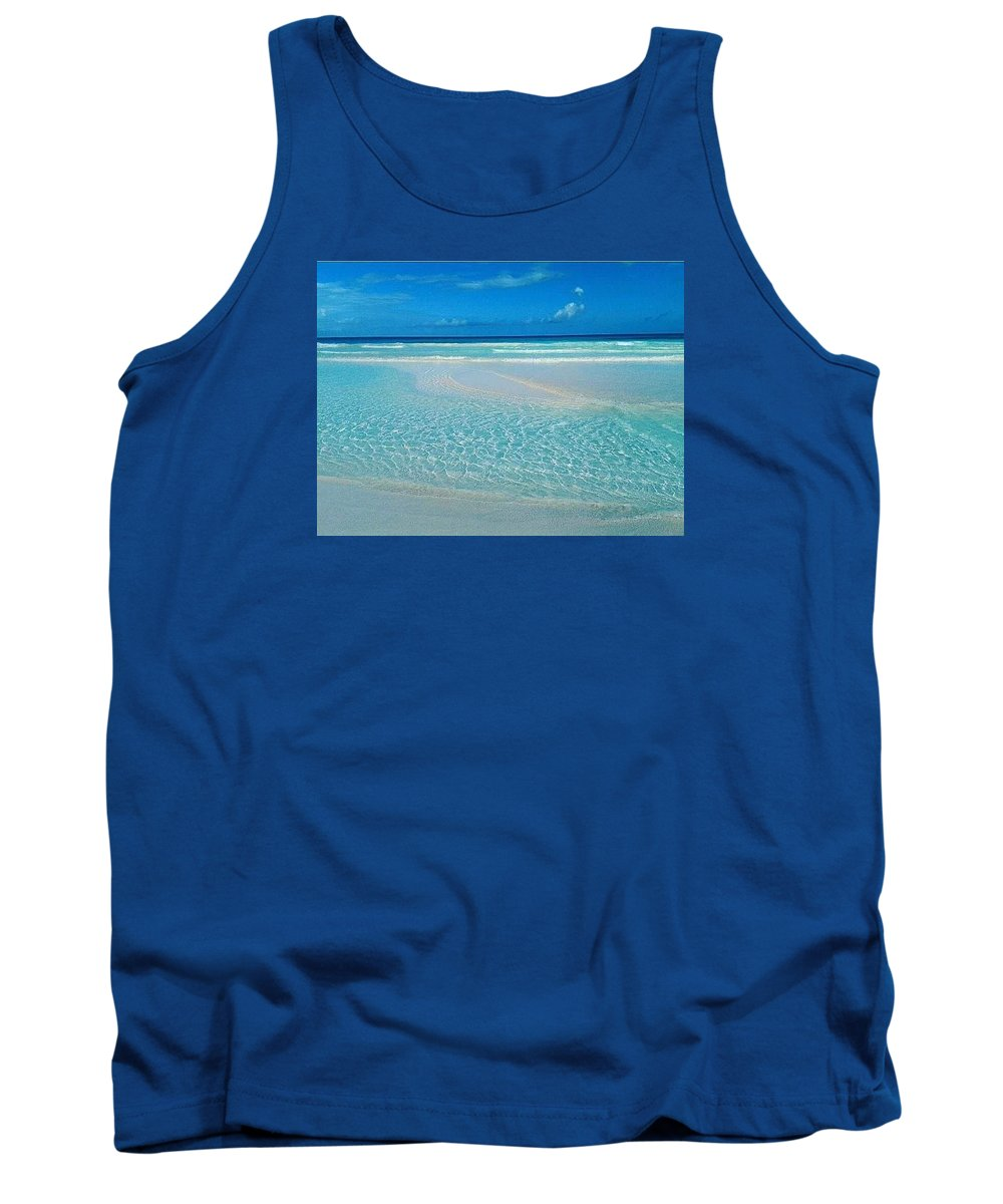 Ocean Tank Top featuring the photograph Reflection by Kayla Powell