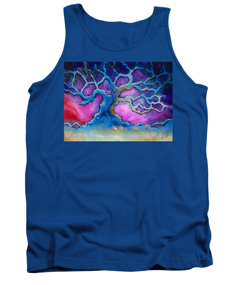 Landscape Tank Top featuring the painting Ria by Jennifer McDuffie