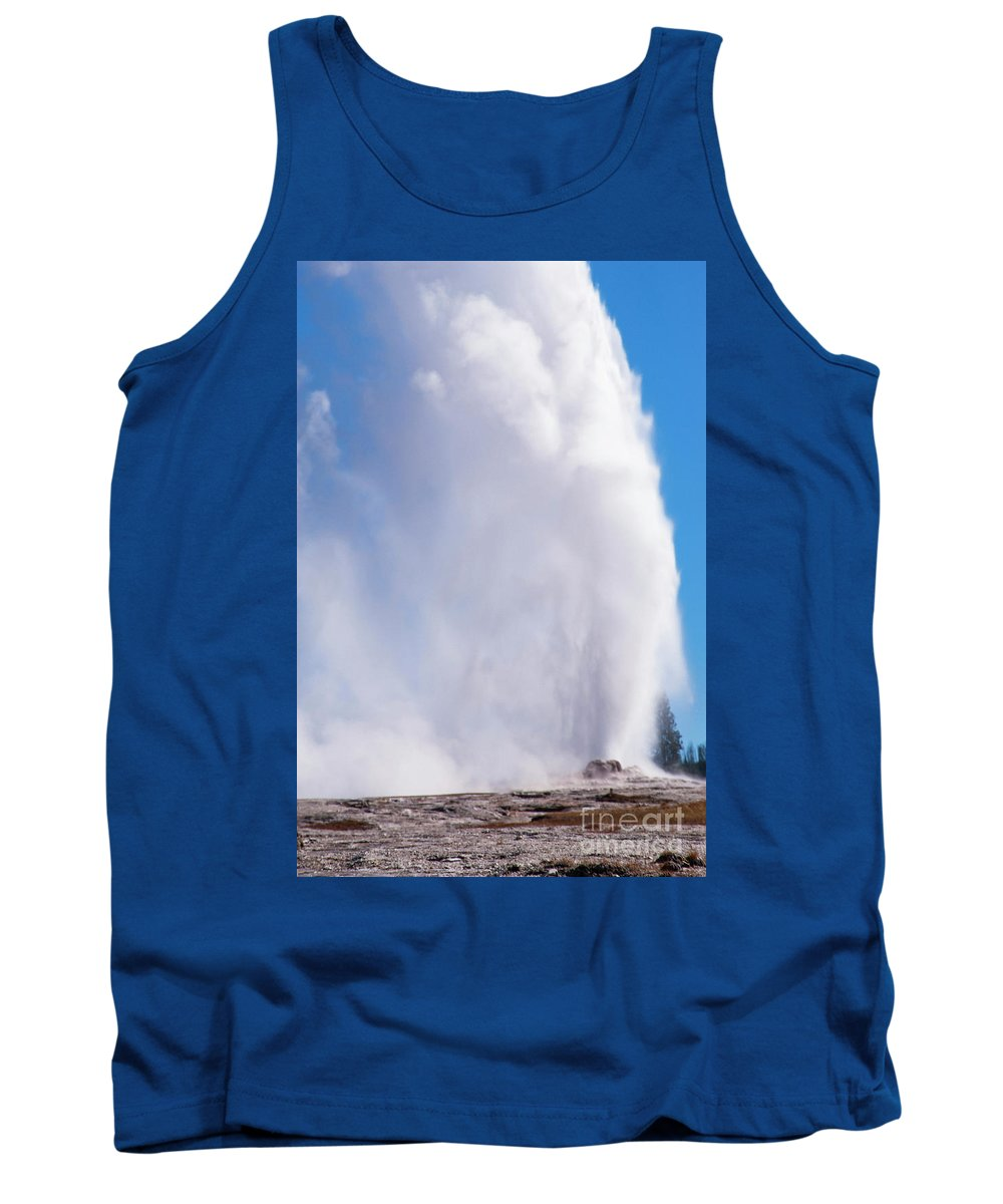 Yellowstone National Park Tank Top featuring the photograph Right On Time Two by Bob Phillips
