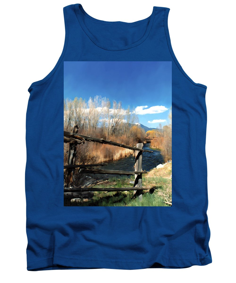 River Tank Top featuring the photograph Rio Pueblo by Kurt Van Wagner