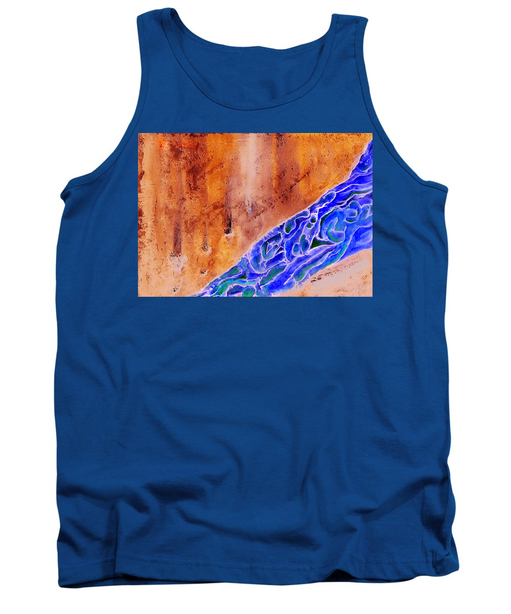 Life Flow River Water People Birth Tank Top featuring the mixed media River Of Life by Veronica Jackson