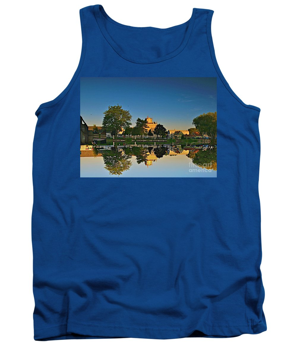 Places Tank Top featuring the photograph Rockford Mi Reflection by Robert Pearson