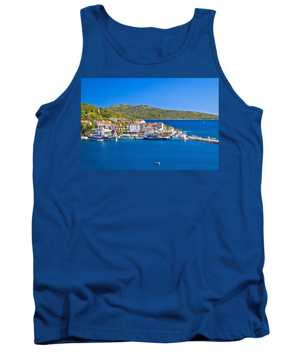 Rogoznica Tank Top featuring the photograph Rogoznica Harbor And Waterfront View by Brch Photography
