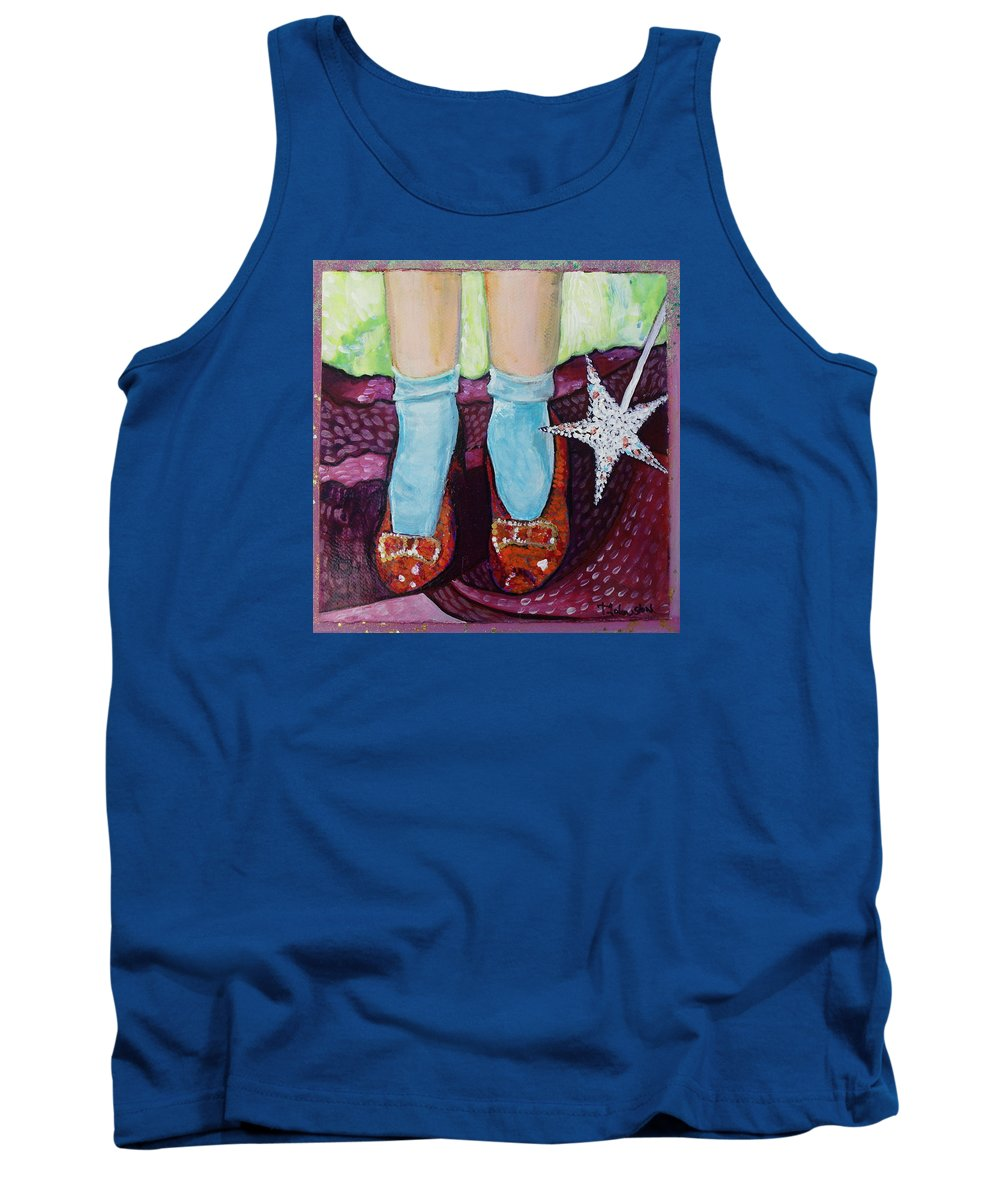 Ruby Slippers Tank Top featuring the painting Ruby Slippers by Tanya Johnston