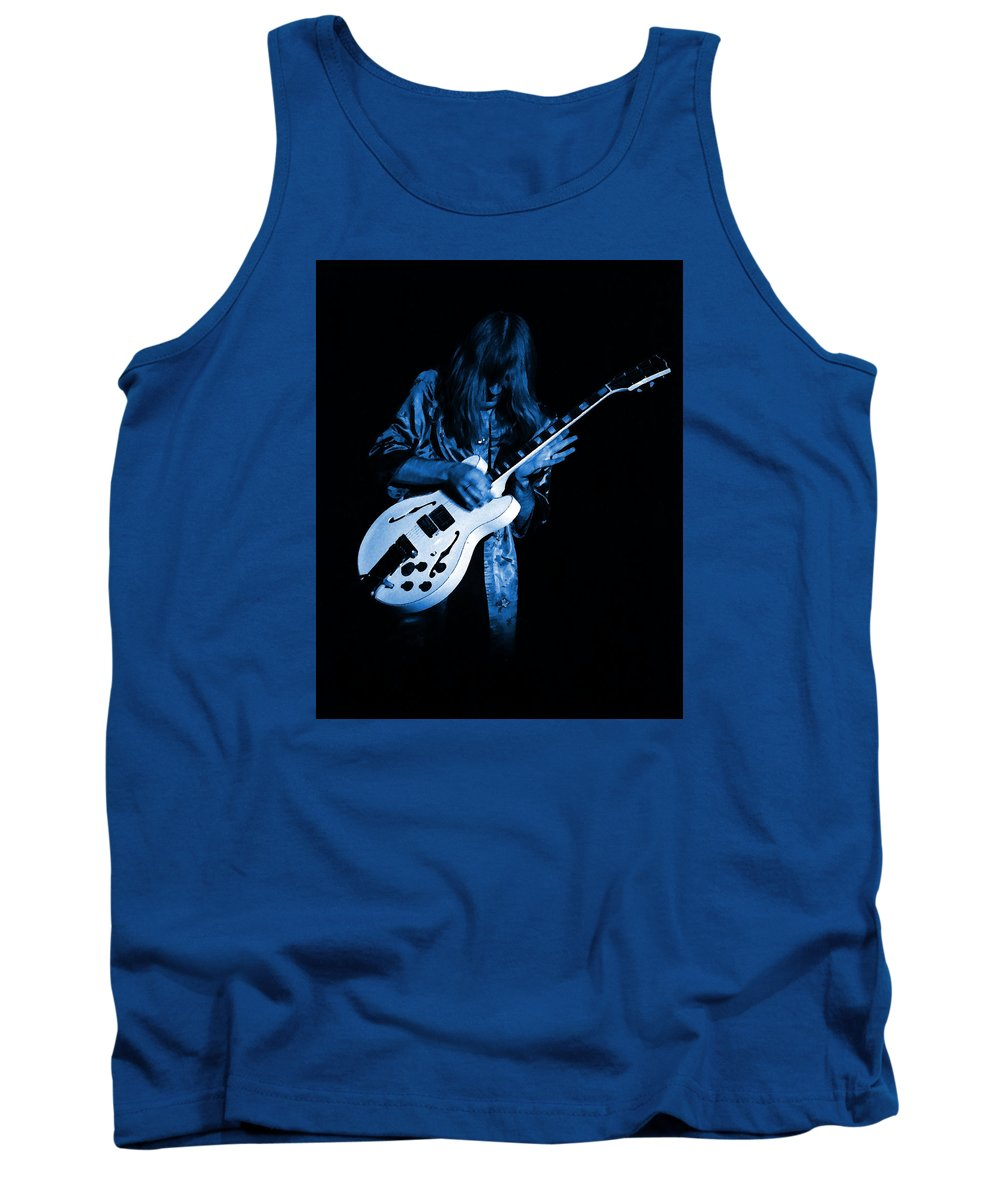 Rock Art Tank Top featuring the photograph Rush 77 #15 Enhanced In Blue by Ben Upham