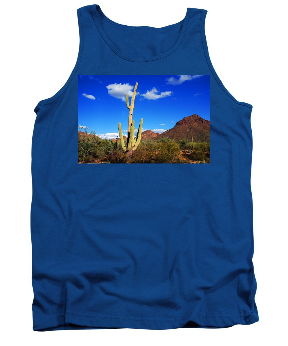 Photography Tank Top featuring the photograph Saguaro Tree by Susanne Van Hulst