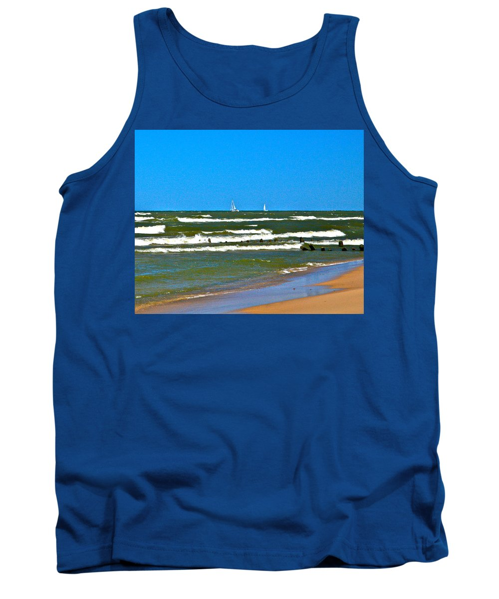 Water Tank Top featuring the photograph Sailing Away by Robert Pearson
