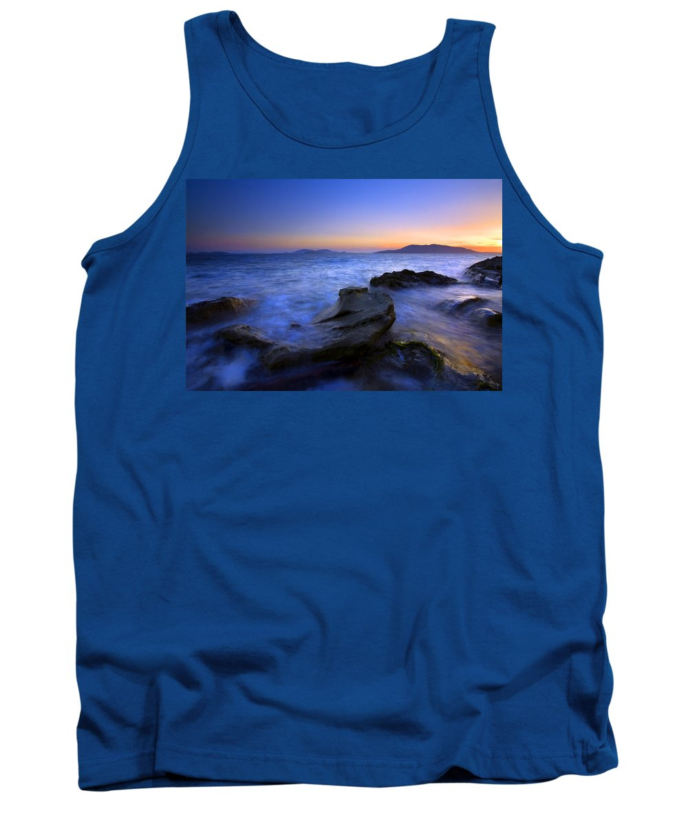 Sunset Tank Top featuring the photograph San Juan Sunset by Mike Dawson