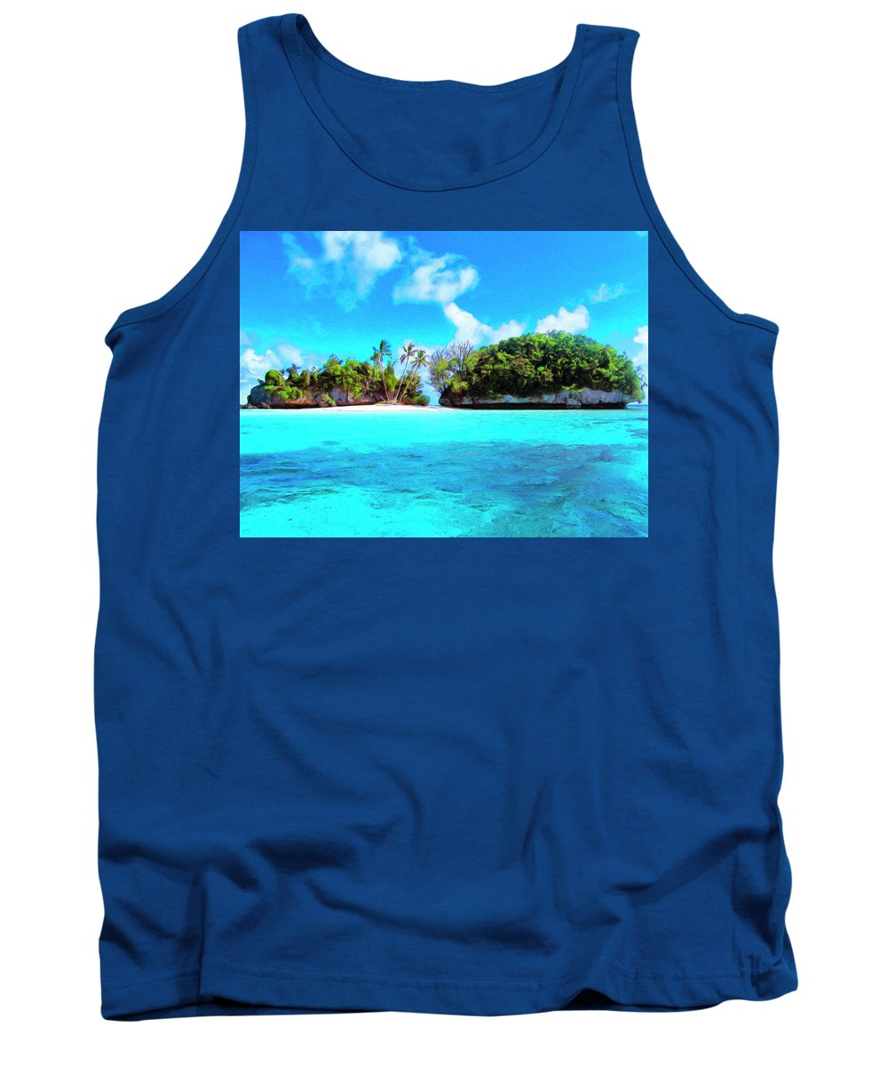 Saved Tank Top featuring the painting Saved by Dominic Piperata