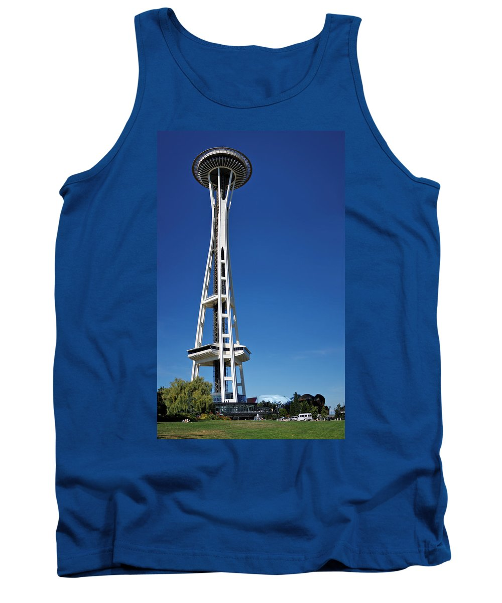 3scape Tank Top featuring the photograph Seattle Space Needle by Adam Romanowicz