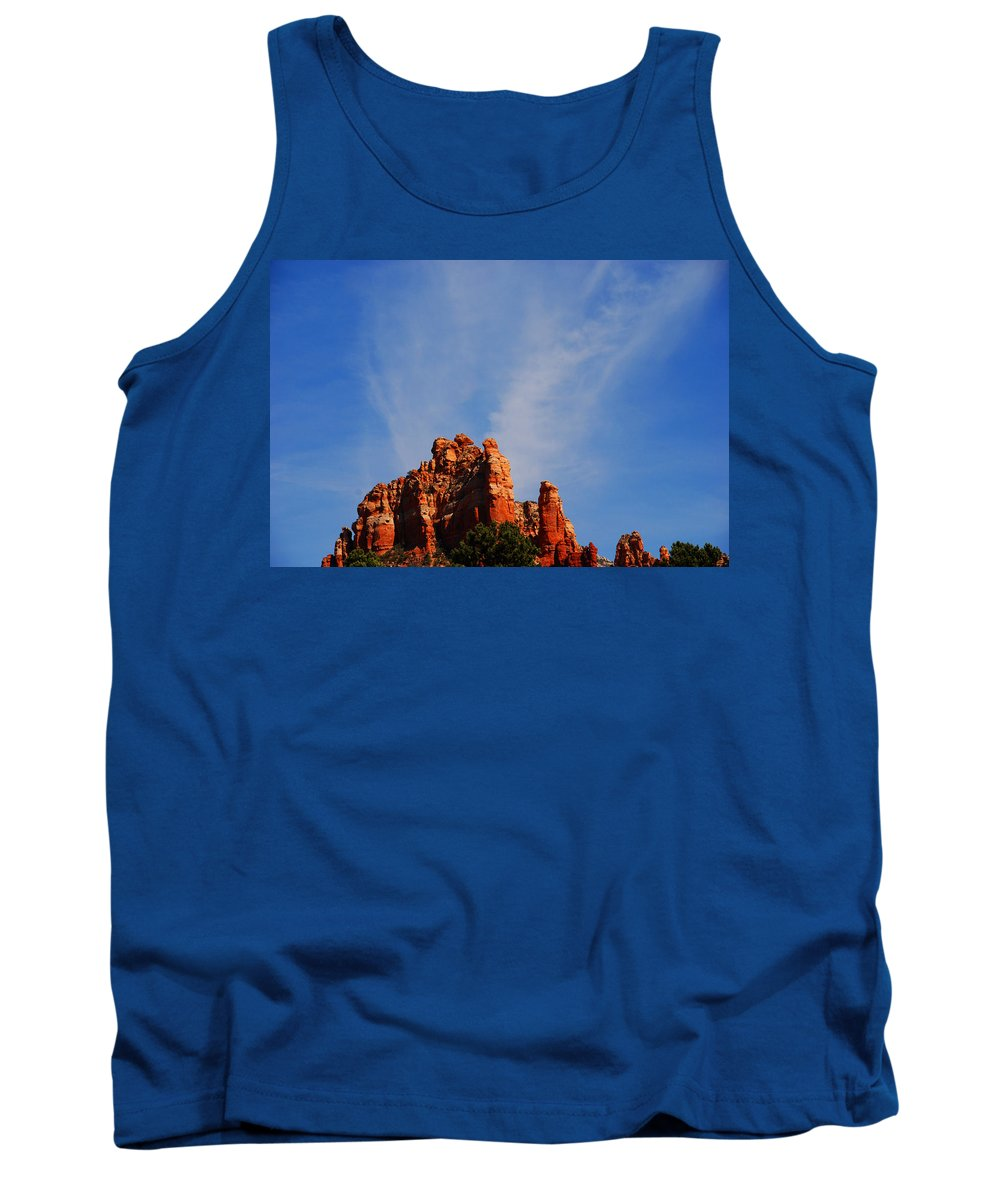 Photography Tank Top featuring the photograph Sedona Sky by Susanne Van Hulst