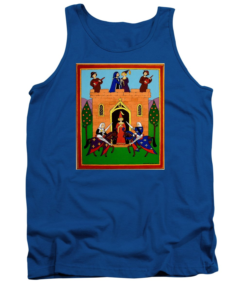Castle Tank Top featuring the painting Seige Of The Castle Of Love by Stephanie Moore