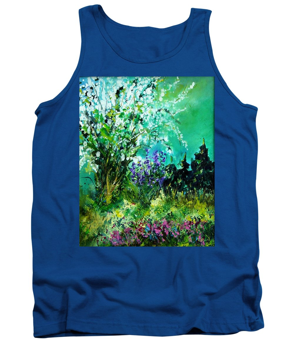 Tree Tank Top featuring the painting Seringa by Pol Ledent