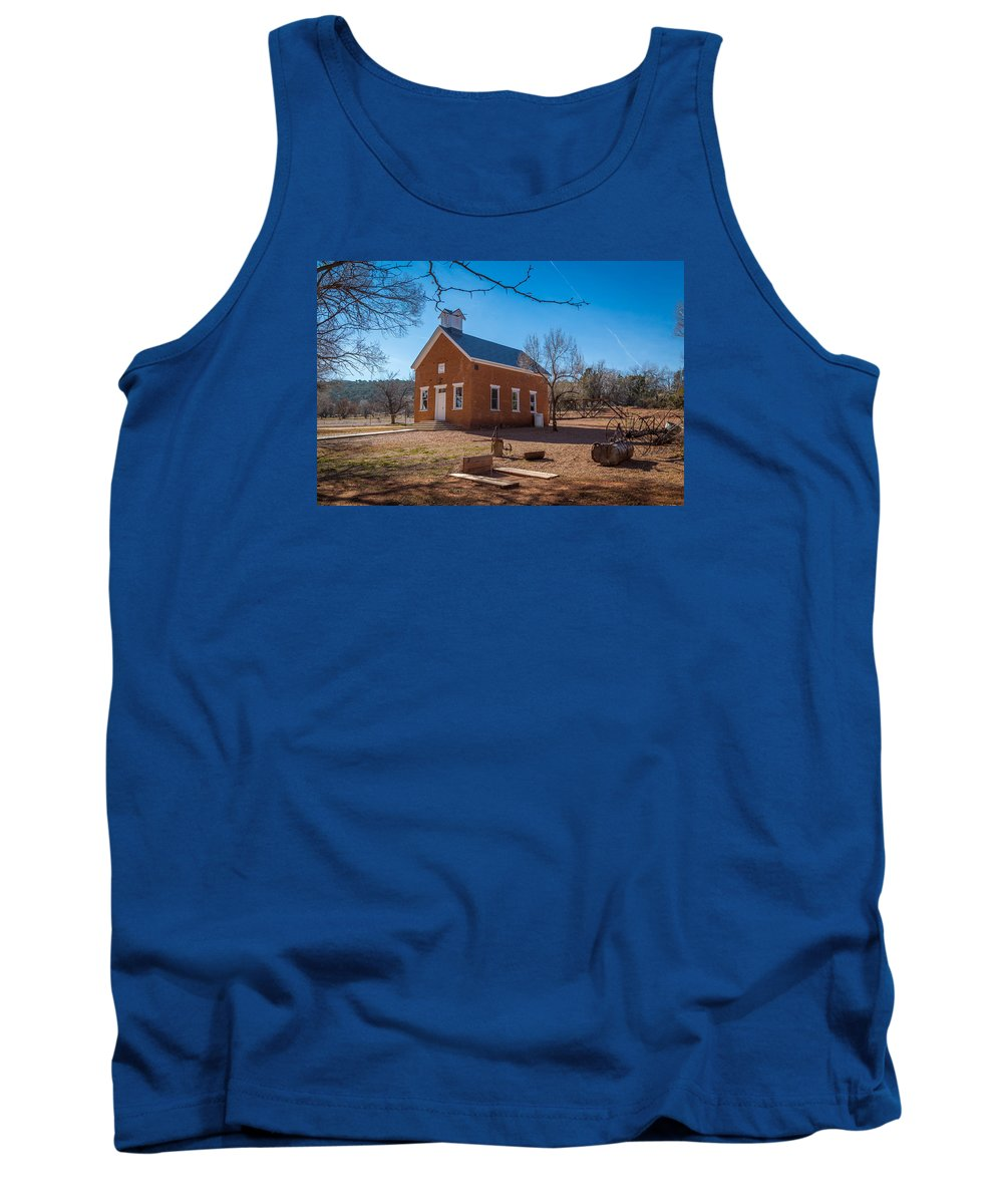 Old Tank Top featuring the photograph Shumway School House by Jon Manjeot