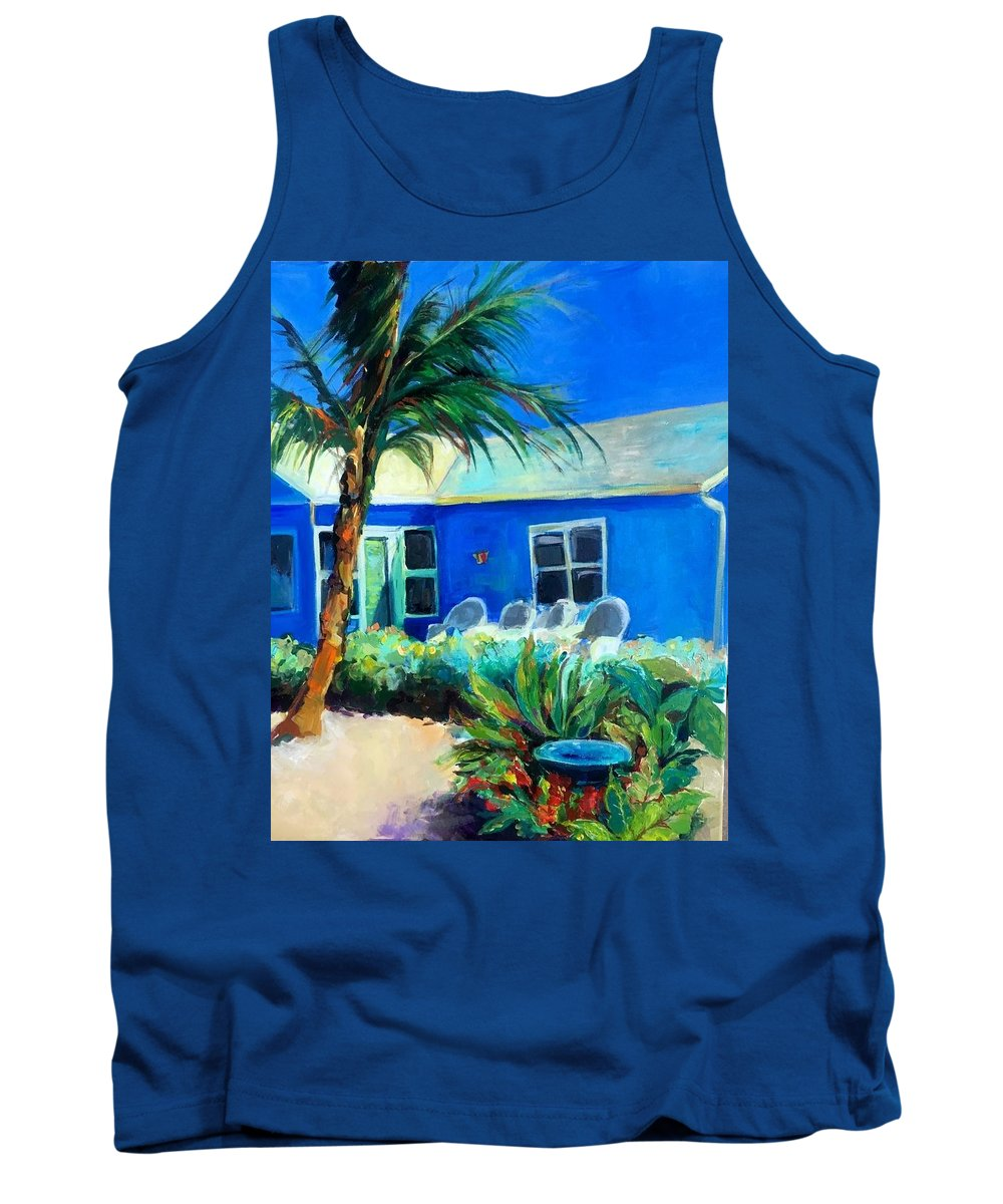 Beach Houses Tank Top featuring the painting Siesta Key by Terry Ross
