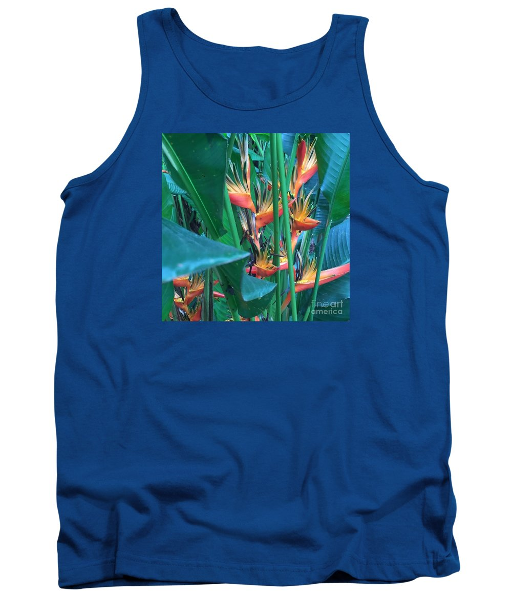 Tropical Tank Top featuring the photograph Singapore Heliconia by Jen Petrie