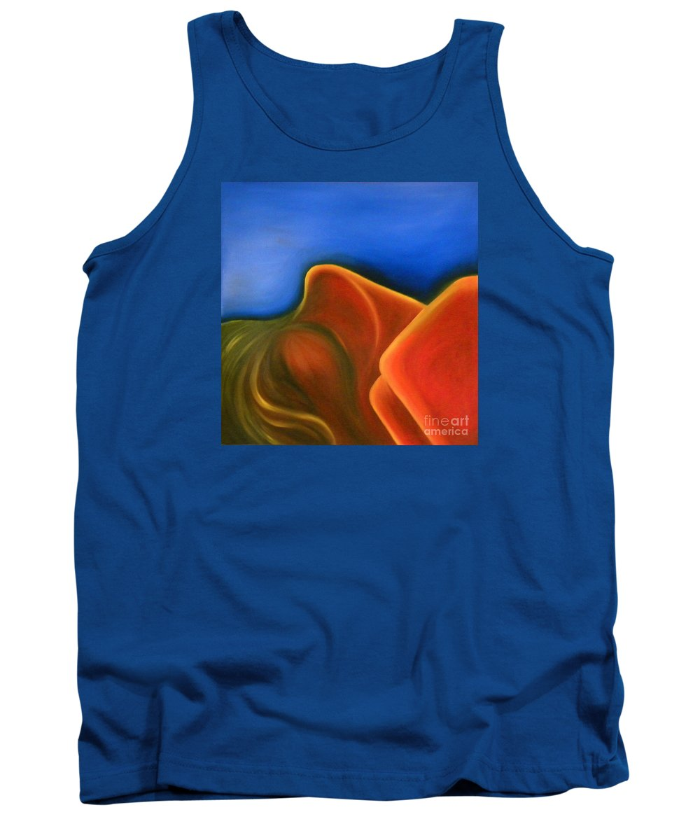 Woman Paintings Tank Top featuring the painting Sinuous Curves Iv by Fanny Diaz