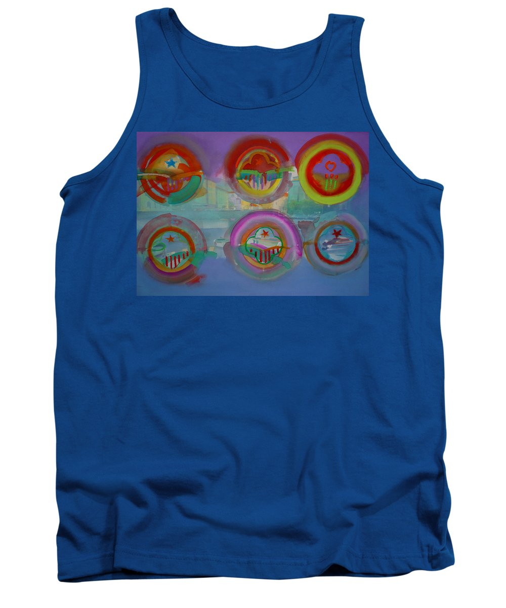 Landscape Tank Top featuring the painting Six Visions Of Heaven by Charles Stuart