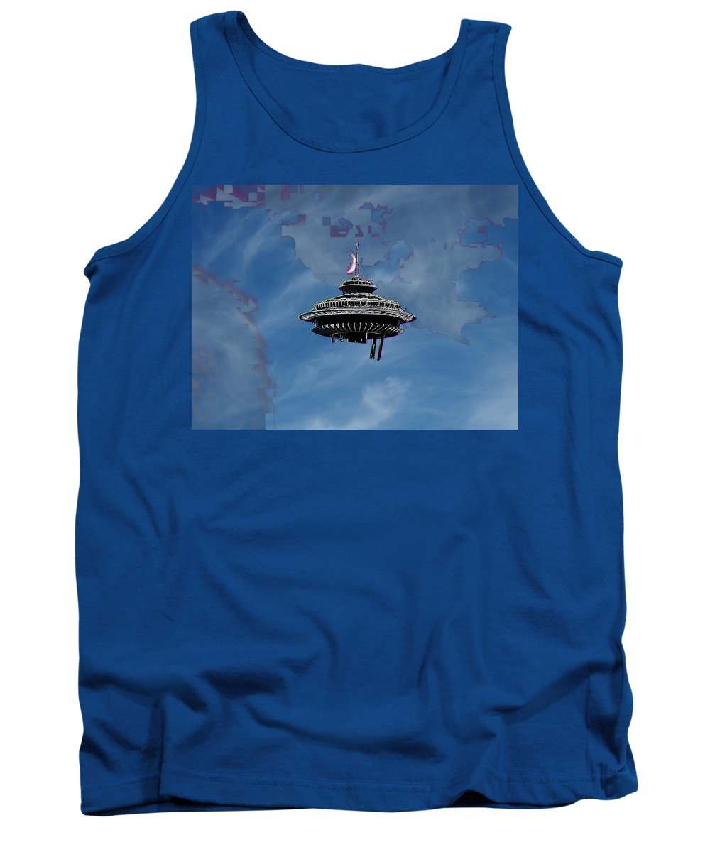 Seattle Tank Top featuring the photograph Sky Needle by Tim Allen