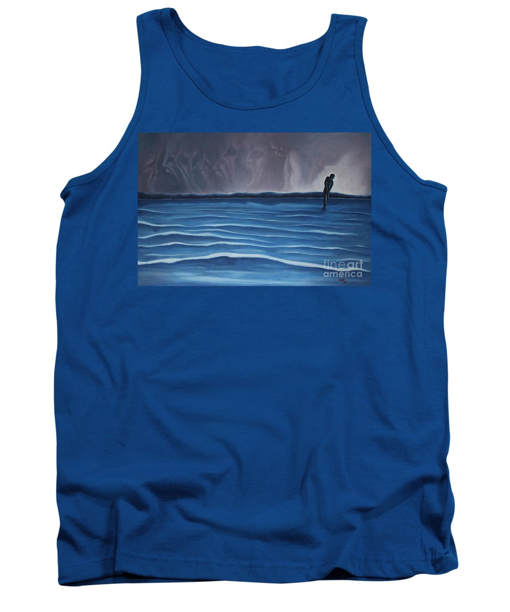 Tmad Tank Top featuring the painting Solitude by Michael TMAD Finney