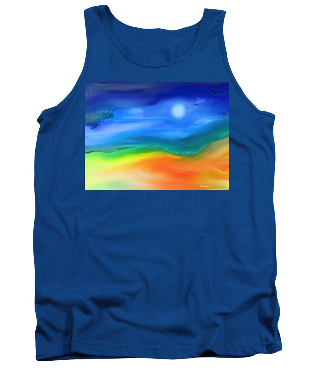 Abstract Tank Top featuring the mixed media Somewhere In The West 2 by Lenore Senior