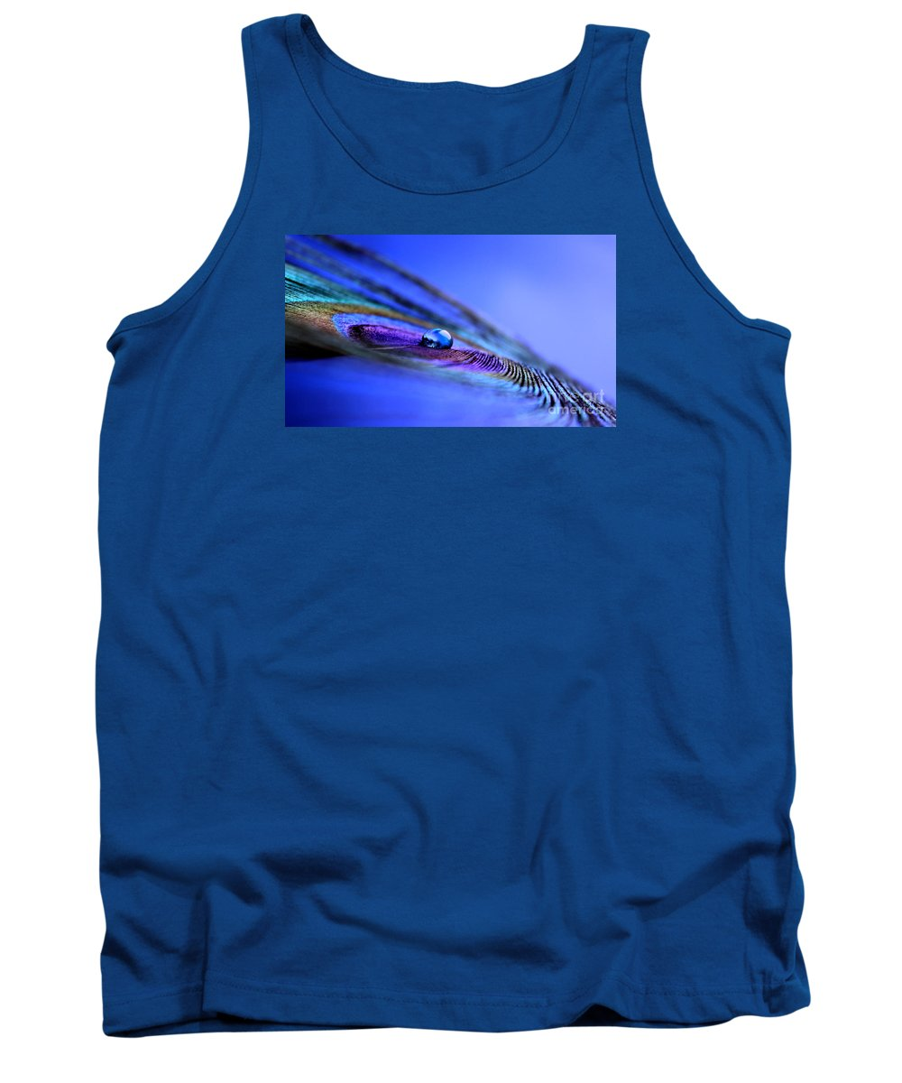 Peacock Feather Tank Top featuring the photograph Soul Of Blue by Krissy Katsimbras
