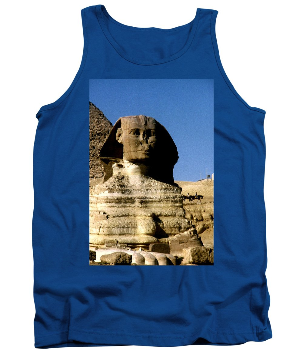 Sphinx Tank Top featuring the photograph Sphinx by Gary Wonning