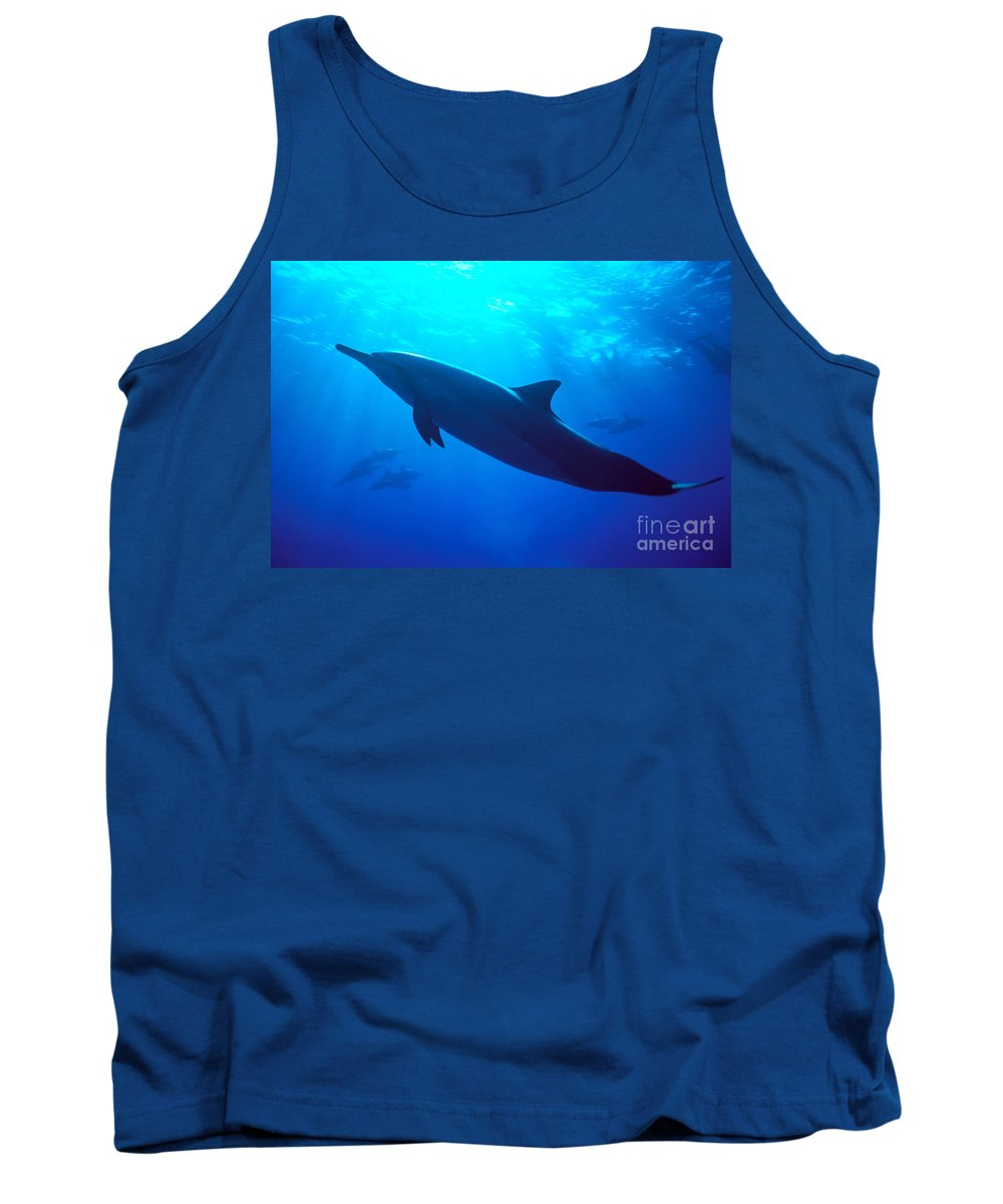 Adult Tank Top featuring the photograph Spinner Dolphin by Dave Fleetham - Printscapes