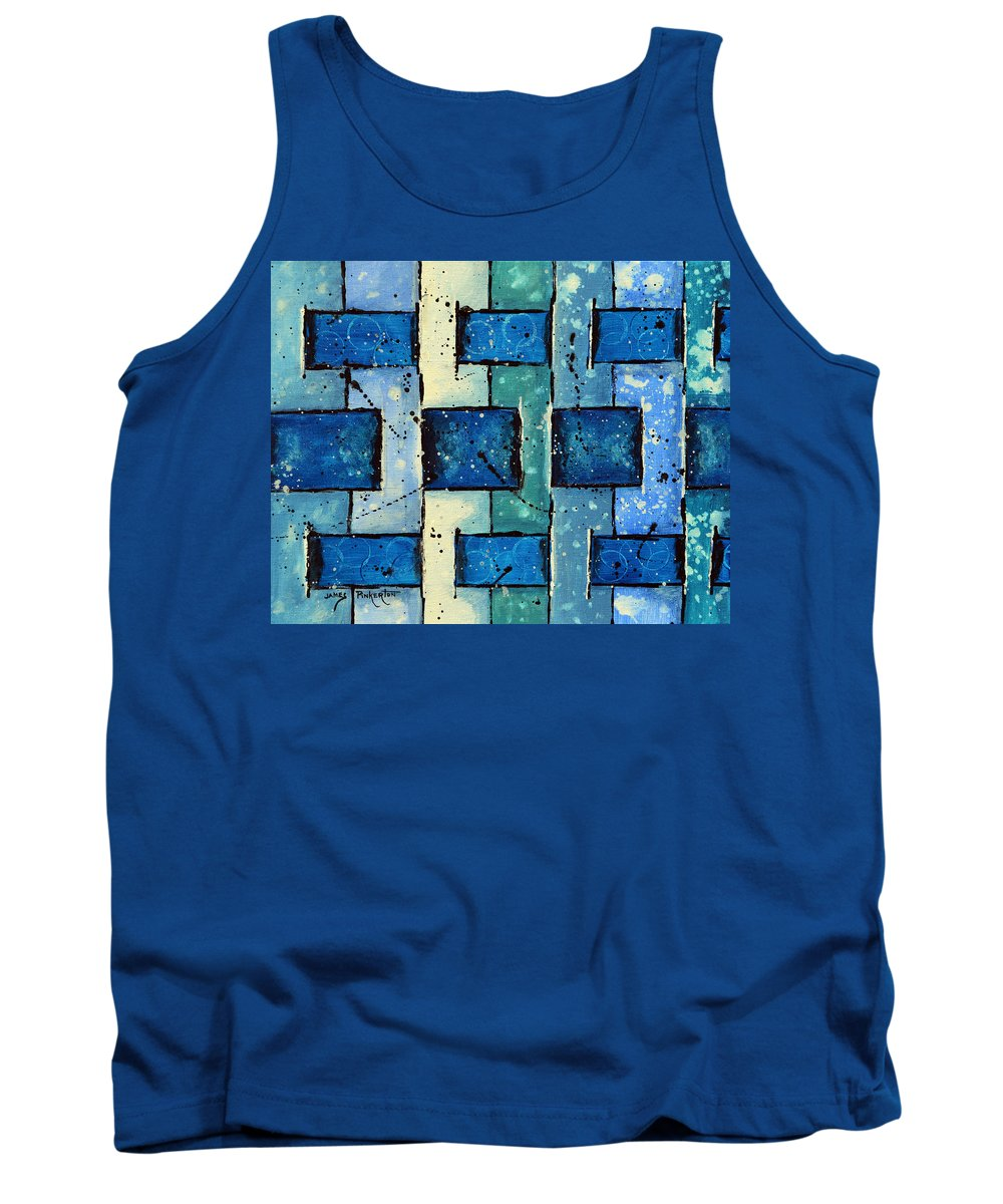 Split Weave Tank Top featuring the painting Split Weave by James Pinkerton