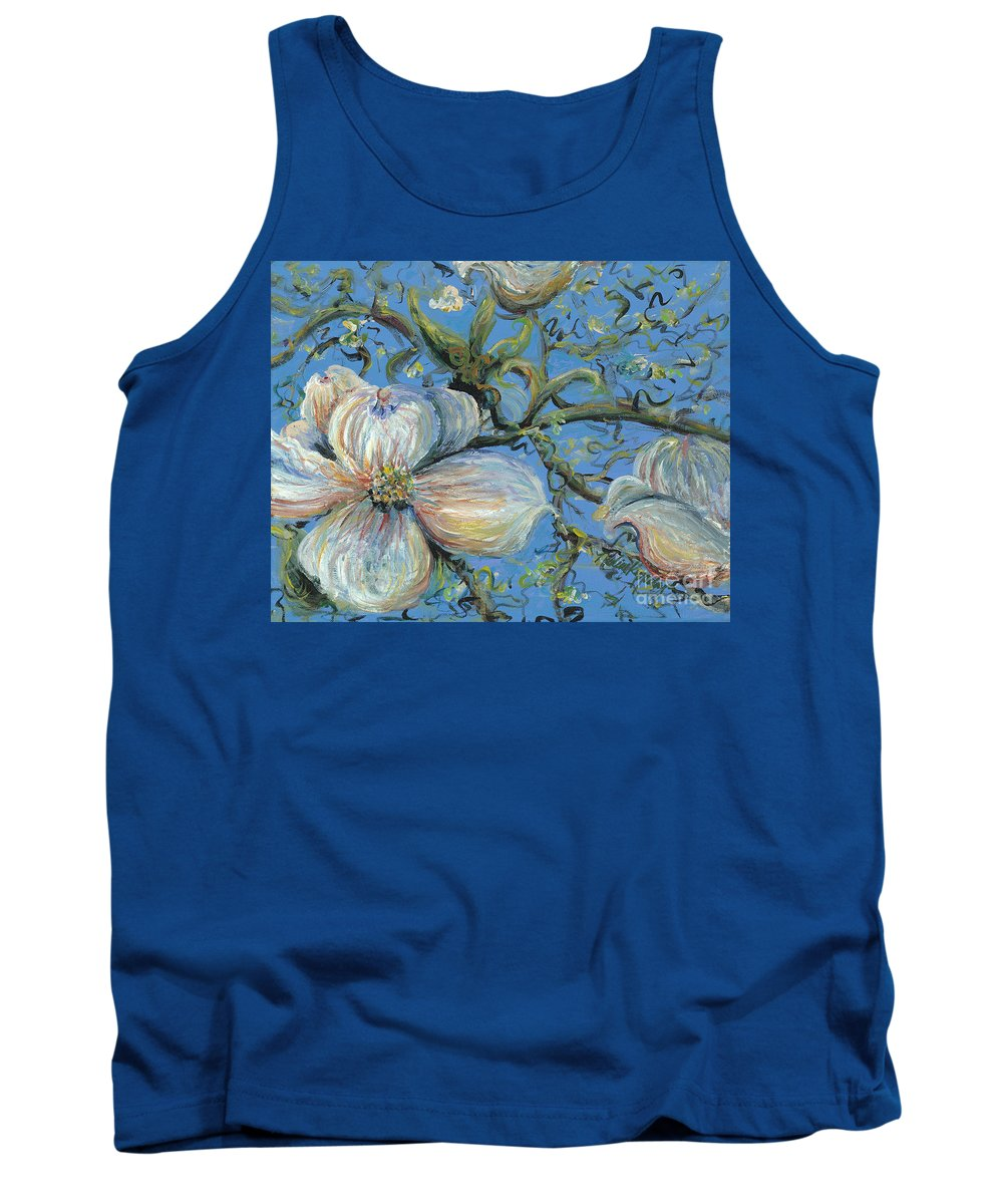 Flower Tank Top featuring the painting Spring Blossoms by Nadine Rippelmeyer