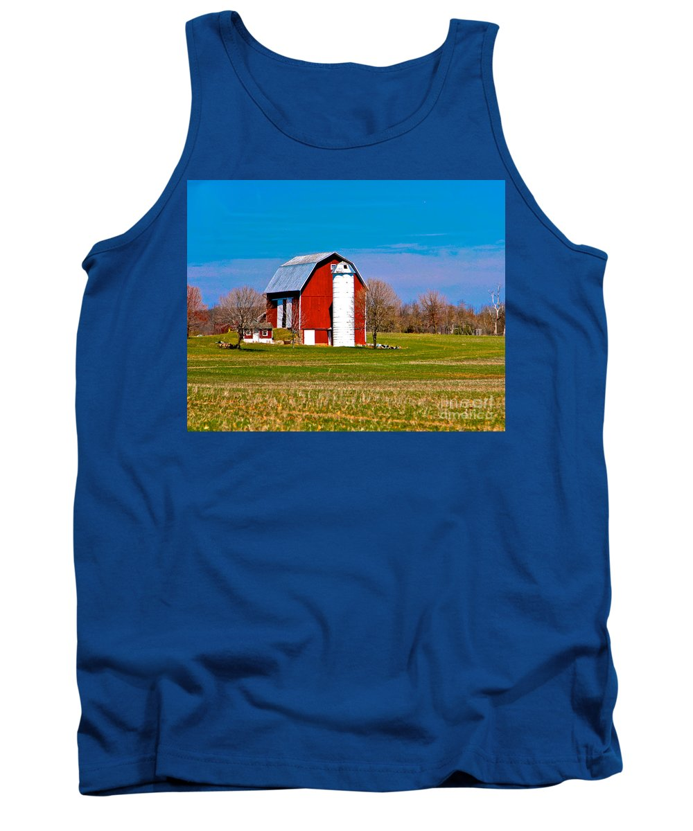 Barn Tank Top featuring the photograph Spring Time On The Farm by Robert Pearson