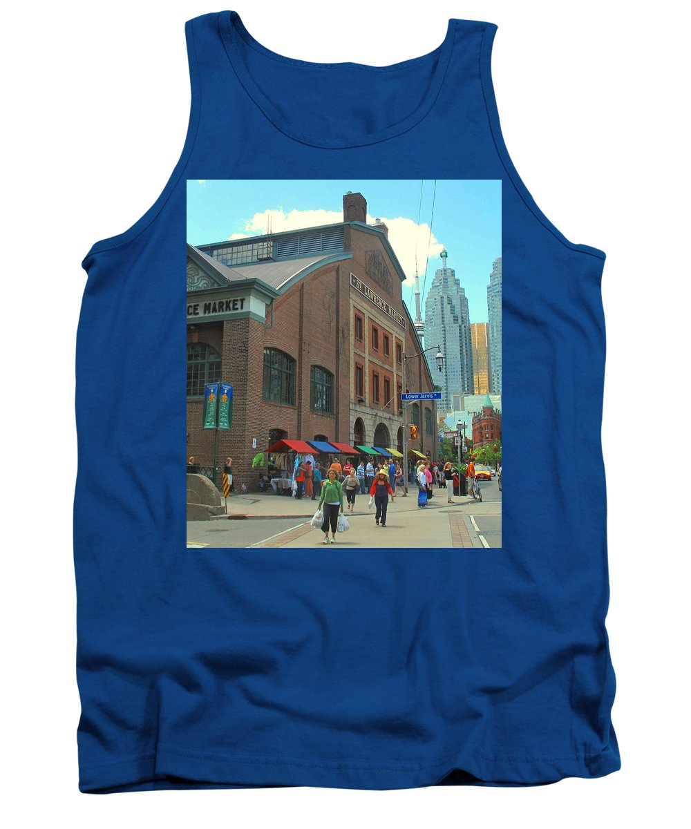 Market Tank Top featuring the photograph St Lawrence Market by Ian MacDonald