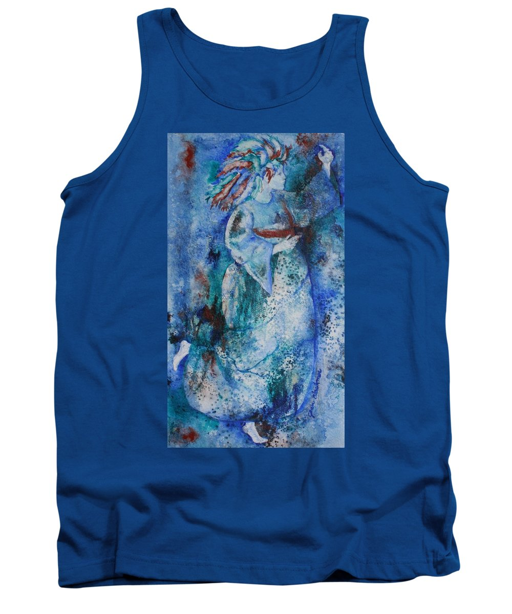 Abstract Tank Top featuring the painting Star Dancer by Jean Blackmer