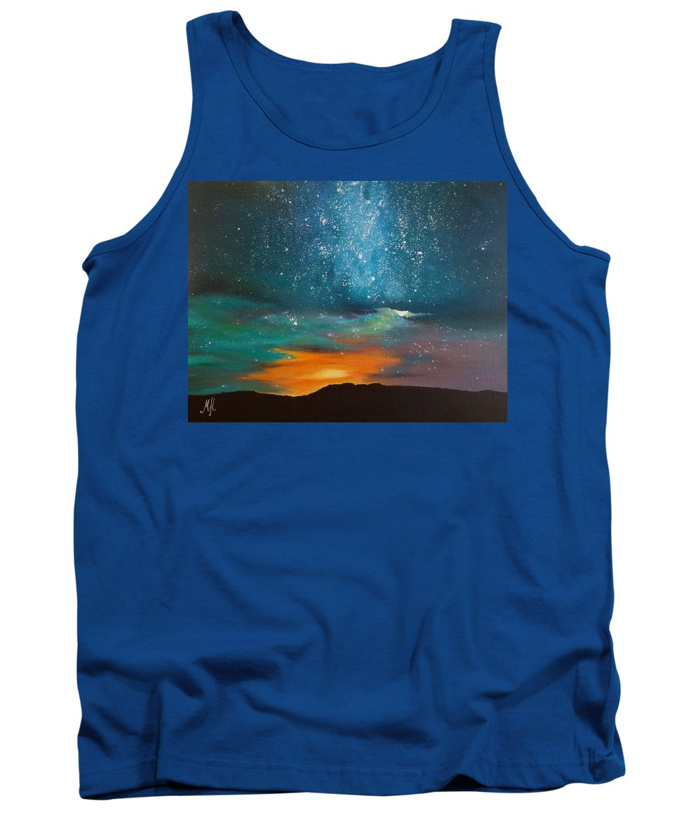 Stars Tank Top featuring the painting Starry Night by Marina Hanson