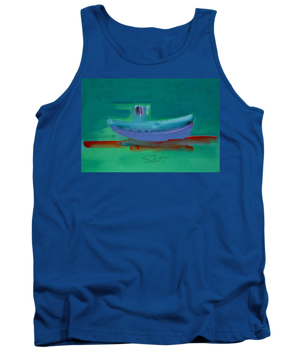 Deep Tank Top featuring the painting Stormbringer by Charles Stuart