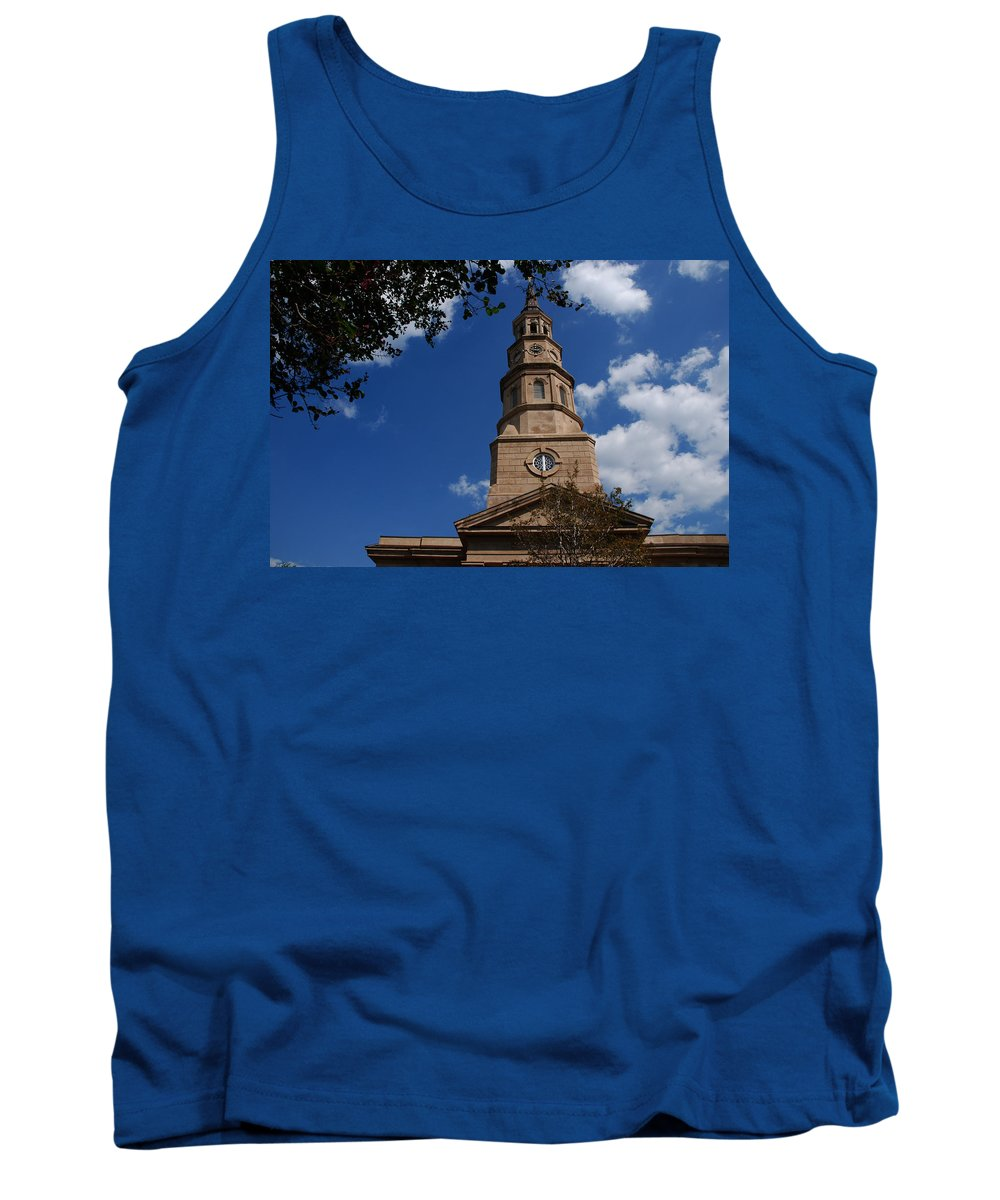 Photography Tank Top featuring the photograph St.philips Church Charleston Sc by Susanne Van Hulst