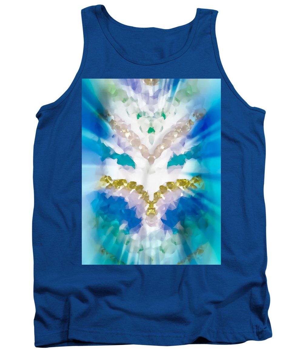 Turquoise Tank Top featuring the photograph Streams Of Light In Turquoise by Heather Joyce Morrill