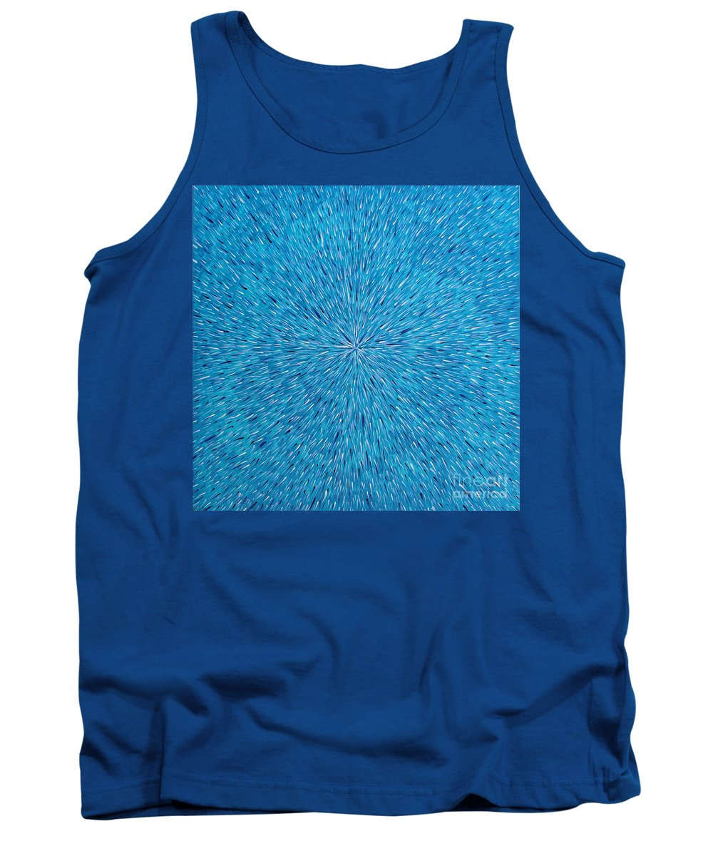 Abstract Tank Top featuring the painting Su Gaia Rain by Dean Triolo