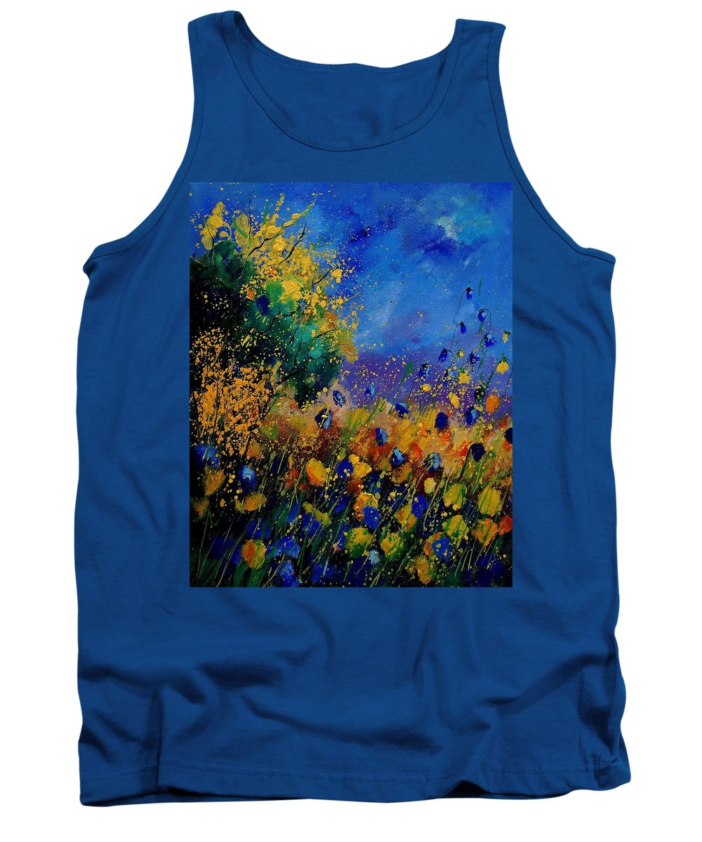 Poppy Tank Top featuring the painting Summer 459090 by Pol Ledent