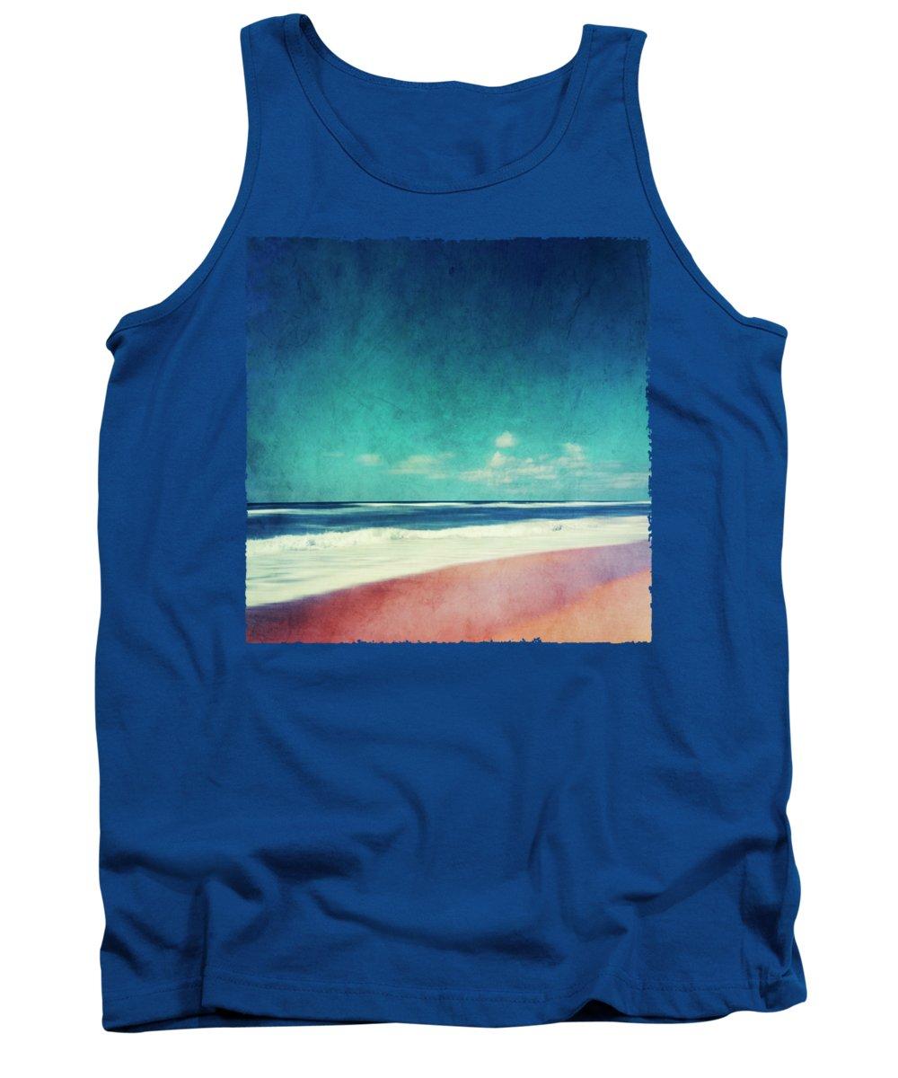 Painterly Tank Top featuring the photograph Summer Days IIi - Abstract Beach Scene by Dirk Wuestenhagen