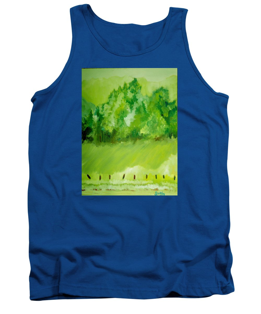 Spring Tank Top featuring the painting Sunday At Two Thirty by Seth Weaver