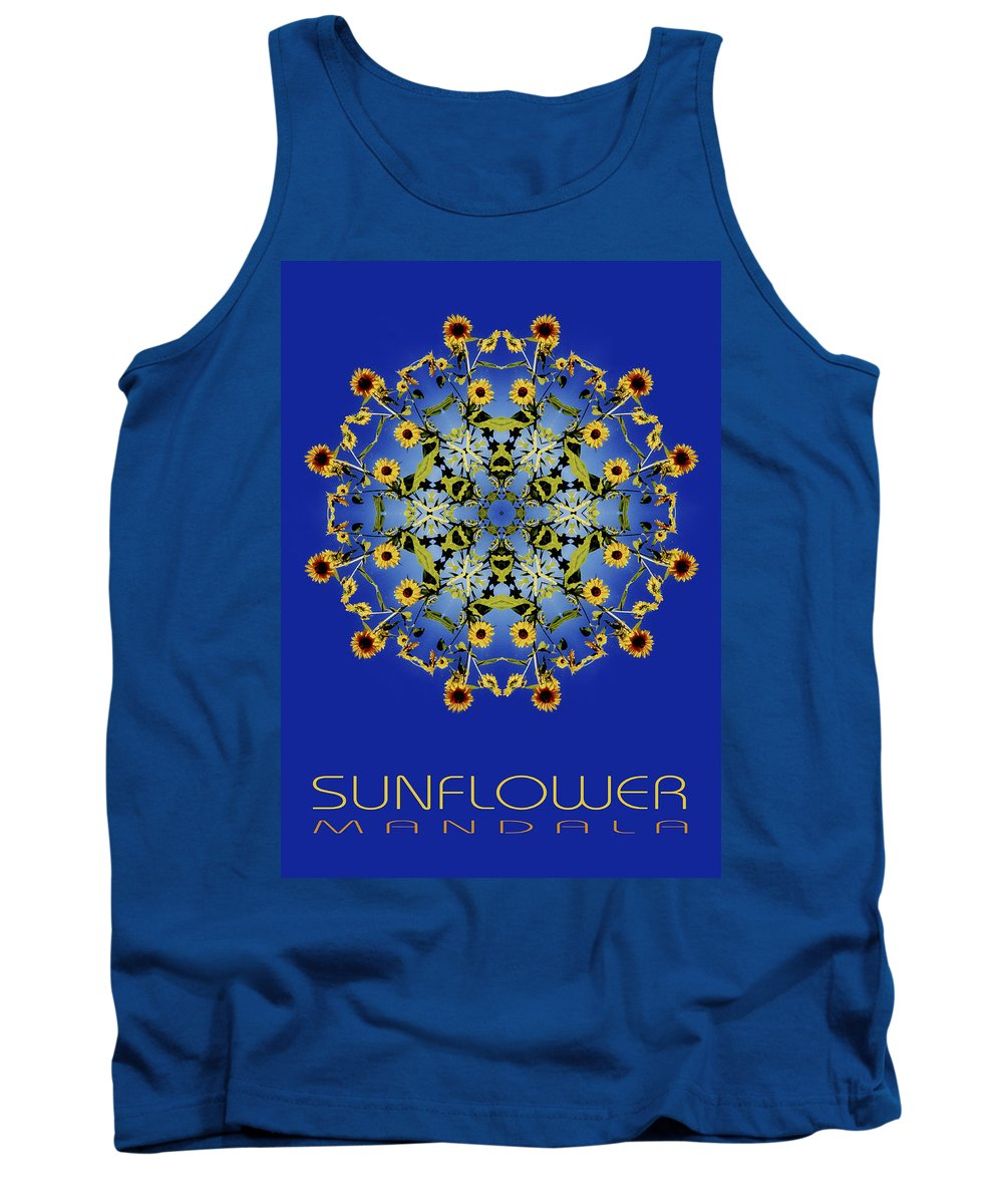 Mandala Tank Top featuring the photograph Sunflower Mandala by Nancy Griswold