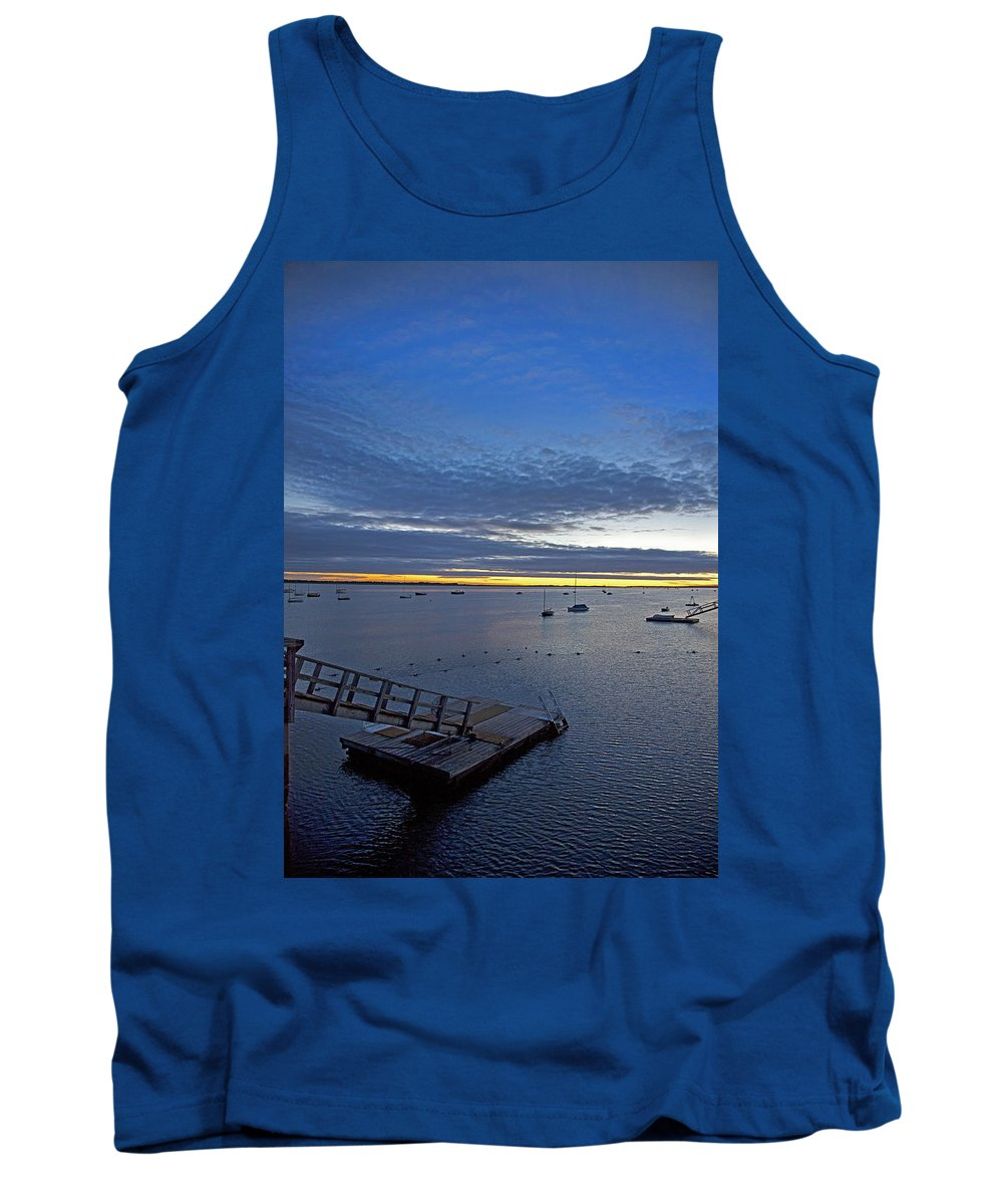Barnstable Tank Top featuring the photograph Sunrise At The Barnstable Yacht Club by Charles Harden